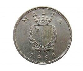 Мальта 25 центов 1991 г.
