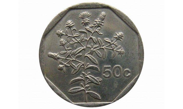 Мальта 50 центов 2001 г.