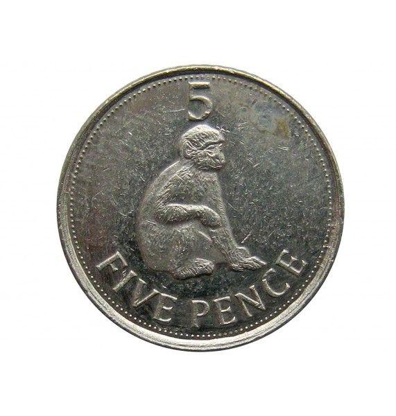 Гибралтар 5 пенсов 2012 г.