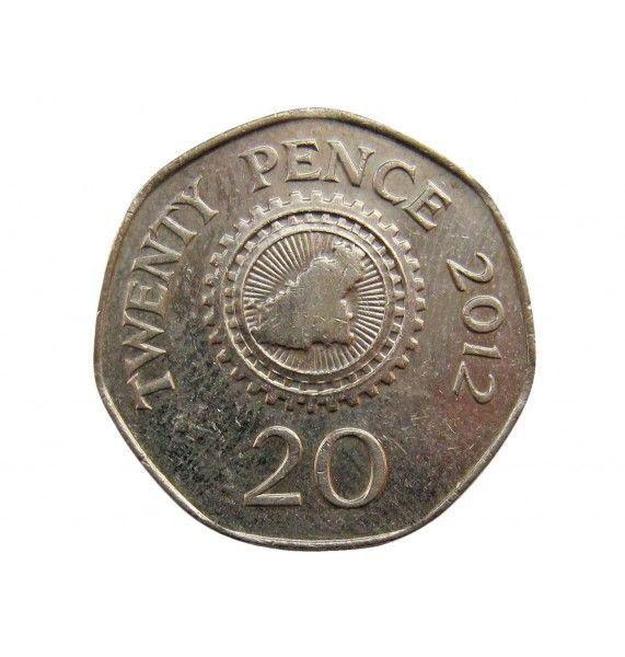 Гернси 20 пенсов 2012 г.