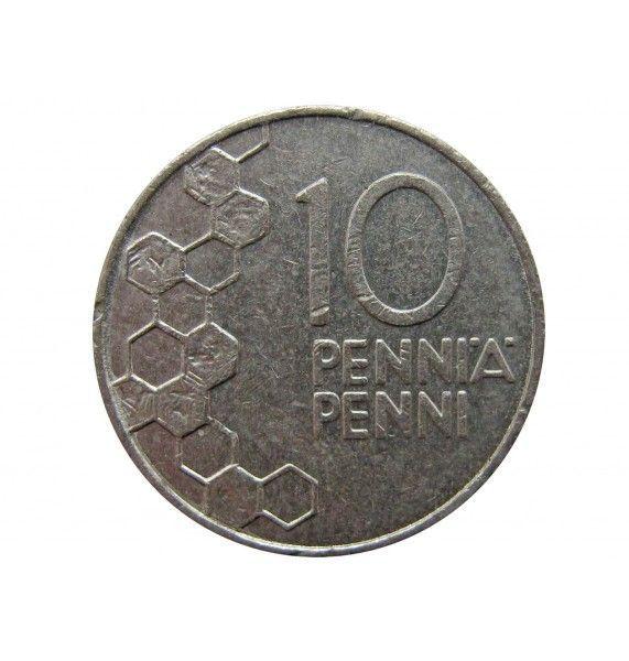 Финляндия 10 пенни 1990 г.