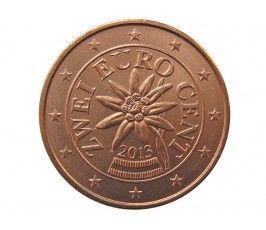 Австрия 2 евро цента 2013 г.
