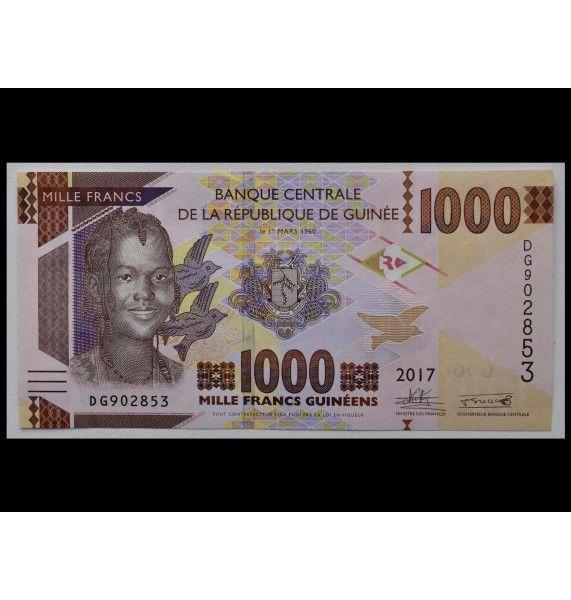 Гвинея 1000 франков 2017 г.