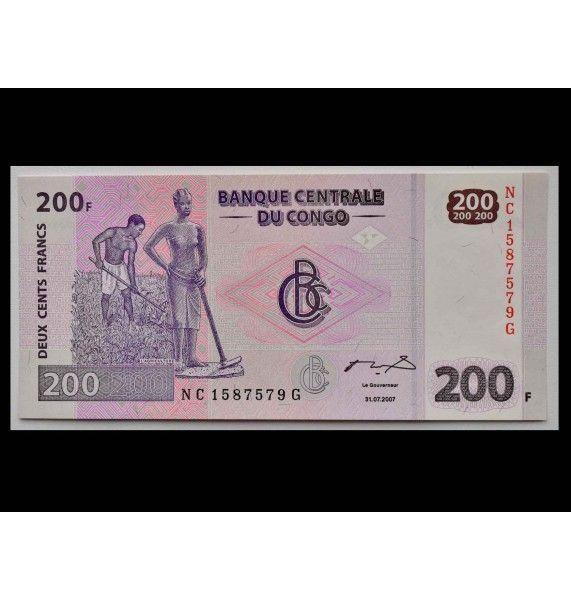 ДР Конго 200 франков 2007 г.