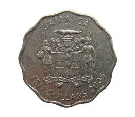 Ямайка 10 долларов 2005 г.