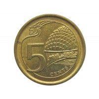 Сингапур 5 центов 2016 г.
