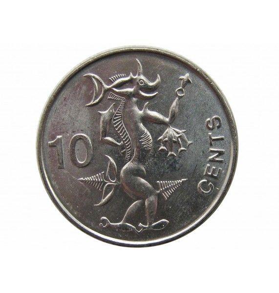Соломоновы острова 10 центов 2012 г.