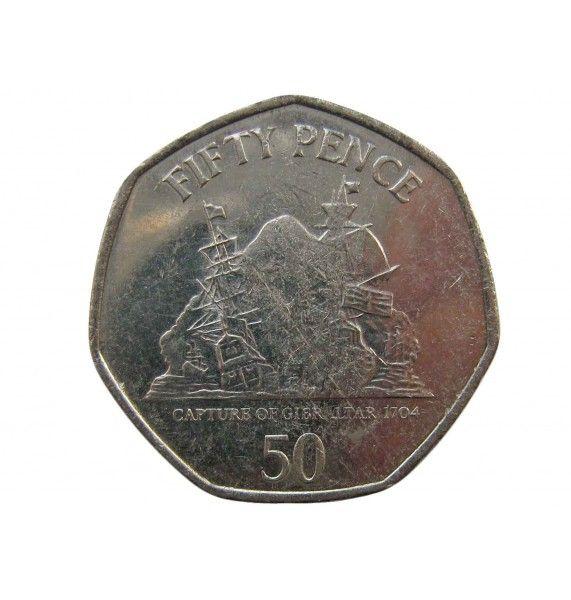 Гибралтар 50 пенсов 2013 г.