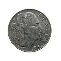 Италия 20 чентезимо 1940 г. (не магнитная)