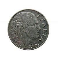 Италия 20 чентезимо 1939 г. (не магнитная)