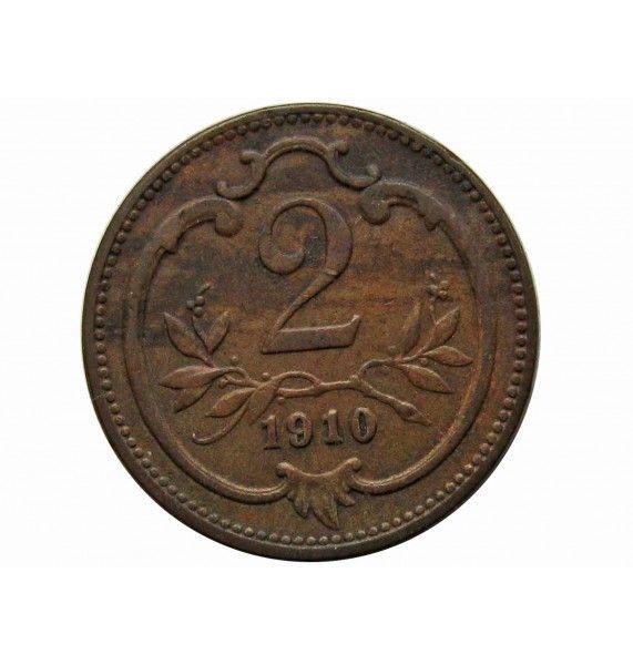 Австрия 2 геллера 1910 г.
