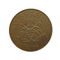 Монако 10 франков 1978 г.