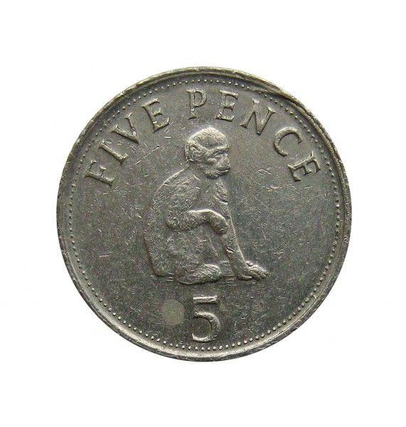 Гибралтар 5 пенсов 2005 г.