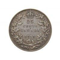 Канада 25 центов 1919 г.