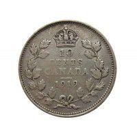 Канада 10 центов 1919 г.