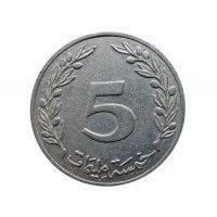 Тунис 5 миллим 1960 г.