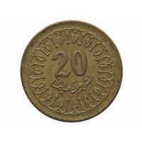 Тунис 20 миллим 1960 г.