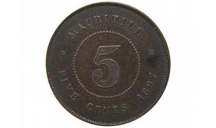Маврикий 5 центов 1897 г.
