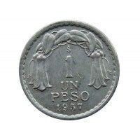 Чили 1 песо 1957 г.