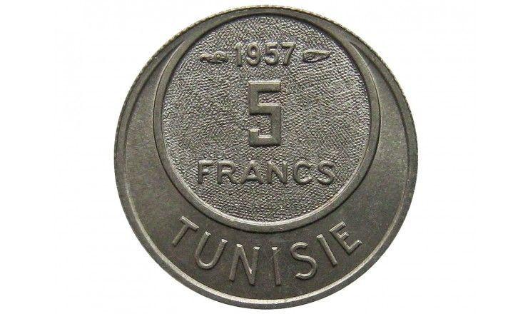 Тунис 5 франков 1957 г.