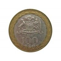 Чили 100 песо 2010 г.