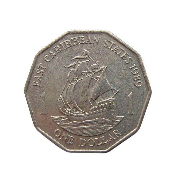 Восточно-Карибские штаты 1 доллар 1989 г.