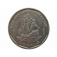 Восточно-Карибские штаты 1 доллар 2002 г.