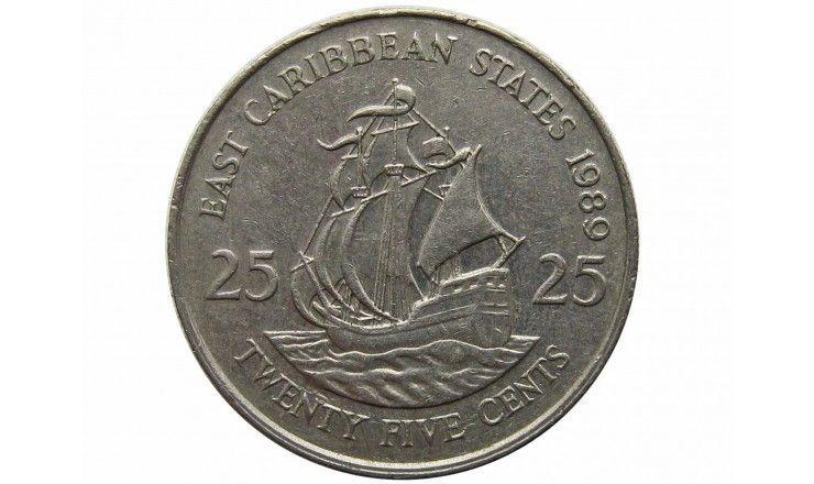 Восточно-Карибские штаты 25 центов 1989 г.