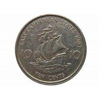 Восточно-Карибские штаты 10 центов 1987 г.