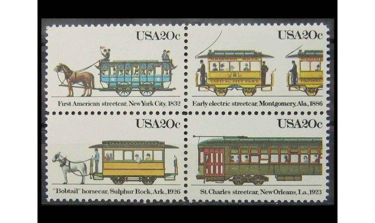 """США 1983 г. """"Трамваи"""""""