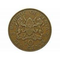 Кения 10 центов 1967 г.