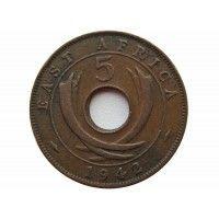 Британская Восточная Африка 5 центов 1942 г.