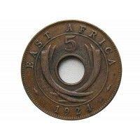 Британская Восточная Африка 5 центов 1924 г.