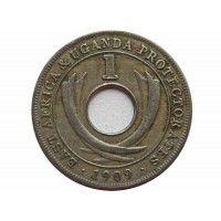 Британская Восточная Африка (Протекторат Уганды) 1 цент 1909 г.