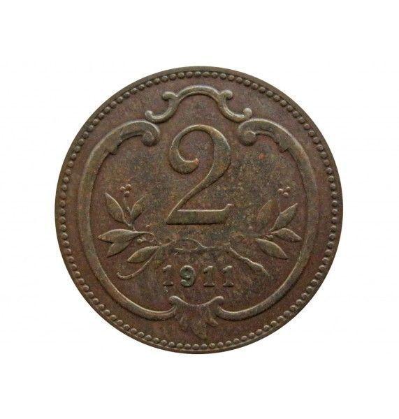 Австрия 2 геллера 1911 г.