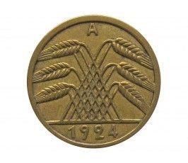 Германия 5 пфеннигов 1924 г. A