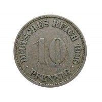 Германия 10 пфеннигов 1900 г. F