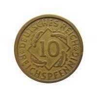 Германия 10 пфеннигов (reichs) 1924 г. A