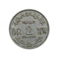 Марокко 2 франка 1951 (1370) г.
