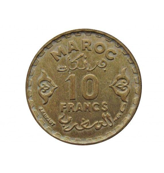 Марокко 10 франков 1952 (1371) г.