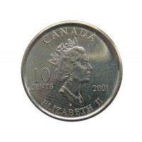 Канада 10 центов 2001 г. (Международный год добровольцев)