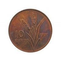 Турция 10 куруш 1971 г. (Кемаль Ататюрк на тракторе)