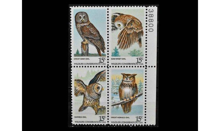 "США 1978 г. ""Охрана природы: Совы"""