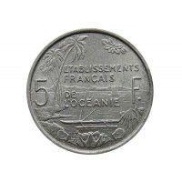 Французская Океания 5 франков 1952 г.