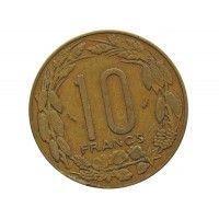 Центрально-Африканские штаты 10 франков 1975 г.