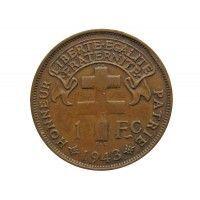 Мадагаскар 1 франк 1943 г.