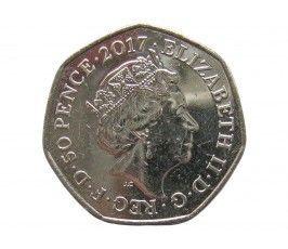 Великобритания 50 пенсов 2017 г. (Бенджамин Банни)