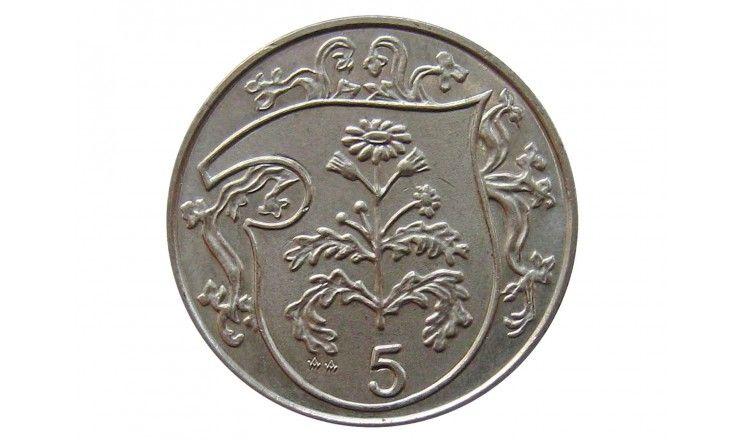 Остров Мэн 5 пенсов 1987 г.