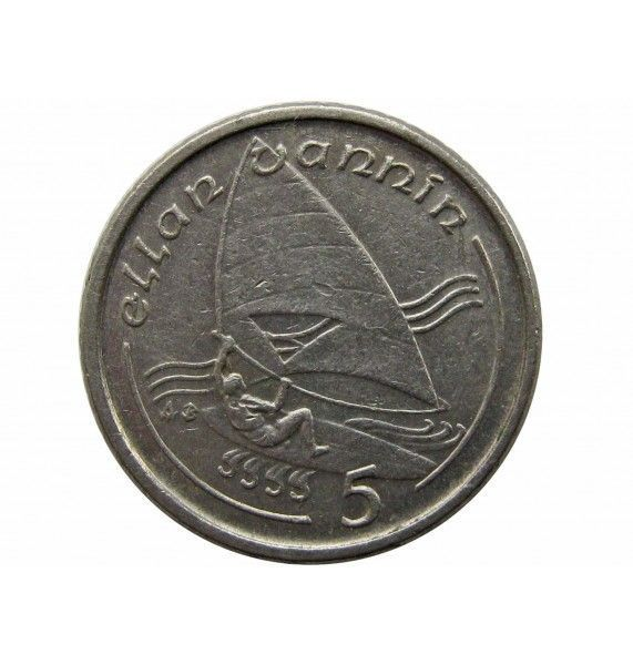 Остров Мэн 5 пенсов 1991 г. AB