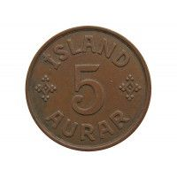 Исландия 5 аурар 1942 г.
